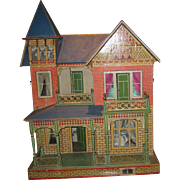 Antique German Gottschalk Blue Roof doll house c1903
