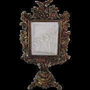 Antique miniature doll house Lithophane rare small size