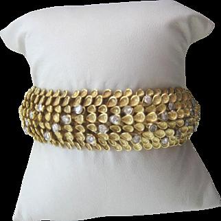 18k Yellow Gold Diamond serpent design bracelet