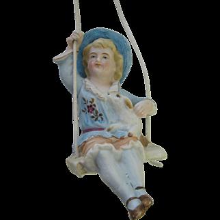 Antique Victorian Heubach German Bisque Swinger