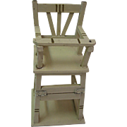 Antique German Marklin wood folding high chair