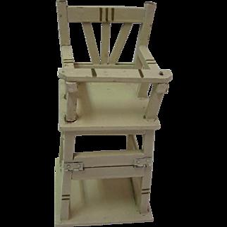 Antique German Marklin wood folding high chair