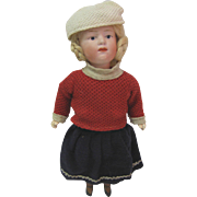 Antique Bisque Heubach doll original clothes 9 1/2""