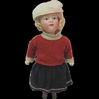 "Antique Bisque Heubach doll original clothes 9 1/2"""