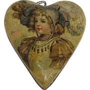 Antique heart Candy container girl floral graphics
