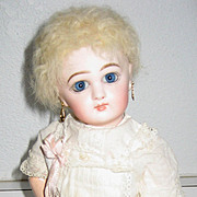 """Antique Jumeau small closed mouth bisque doll 10"""""""