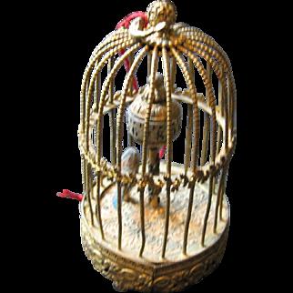 Austrian Ormolu decorative large doll miniature birdcage