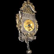 Antique doll large German decorative miniature metal clock