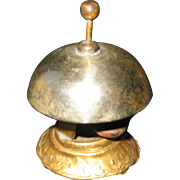 Antique German store miniature decorative ormolu & tin bell