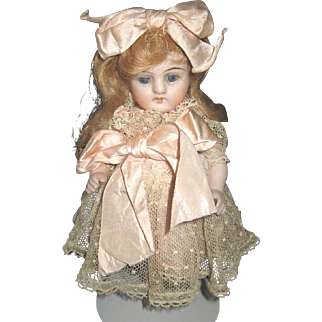 Antique German all bisque jointed doll