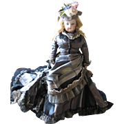 Antique French Fashion doll 12""