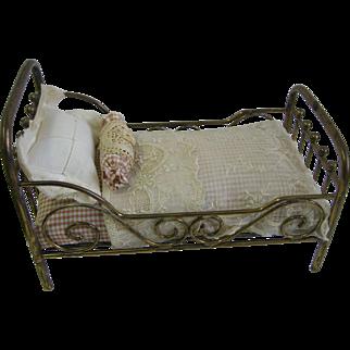 Antique Marklin brass doll bed