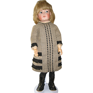 "Kammer & Reinhardt Mein Liebling 117 24"" antique bisque flirty eye doll"