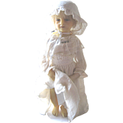 Beautiful antique wax doll 18""