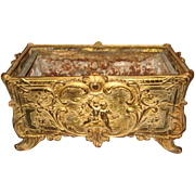 Antique gilt Brass metal Cherubs decorative planter