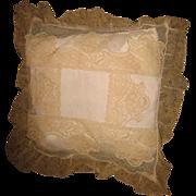Decorative lace antique small pillow