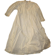 Antique doll white baby gown dress slip