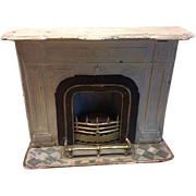 Antique Marklin doll house miniature metal fireplace