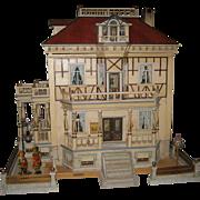 Antique German Christian HACKER mansion DOLLS' HOUSE