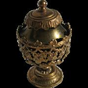 Antique miniature doll house German Erhard & Sohne Ormolu metal decorative jar c1900