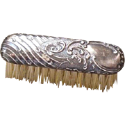 Antique doll miniature decorative sterling silver small dresser brush