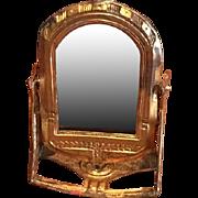 Antique Ormolu German Art Deco Miniature doll house Tilting mirror