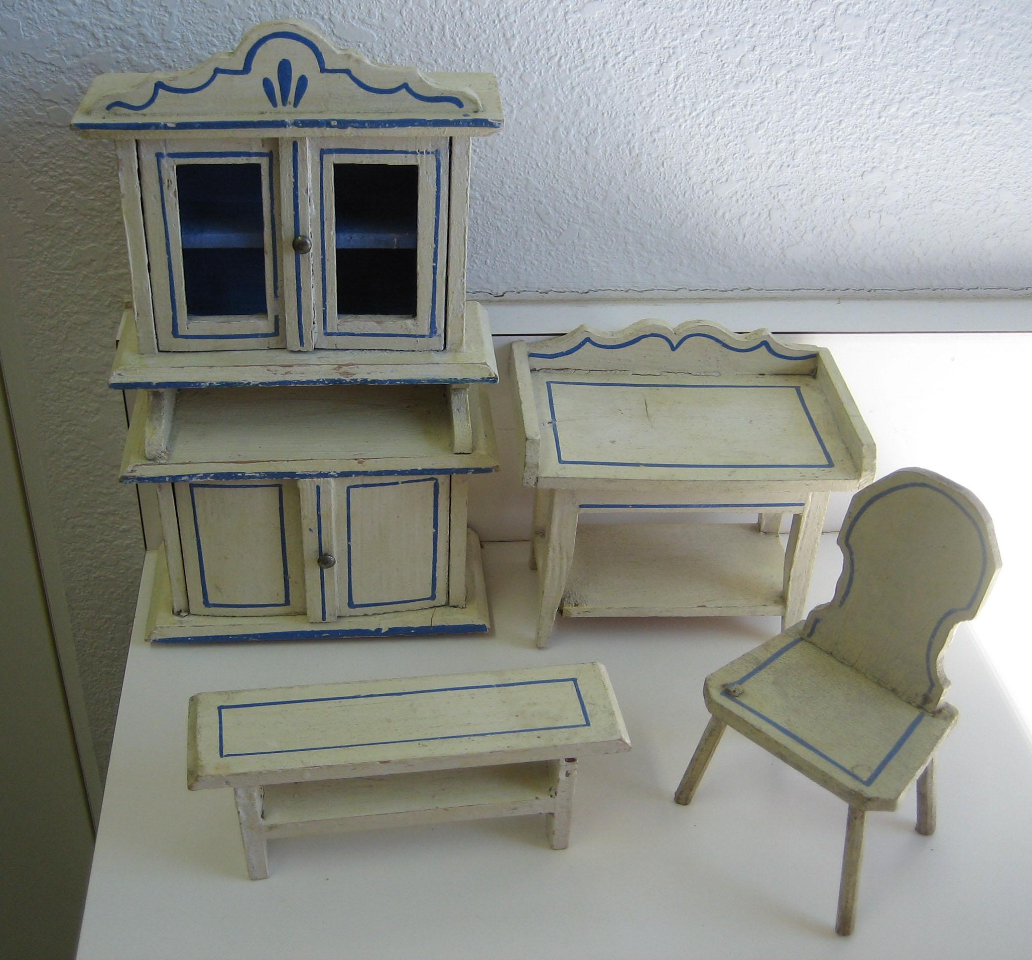 Antique German Kitchen Gottschalk Dollhouse Miniature Matching Sondra Krueger Antiques Ruby Lane