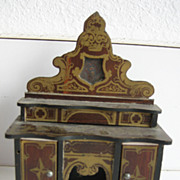 Antique doll house miniature buffet Boule Walterhausen Biedermeier furniture gilt design small scale