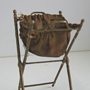 Antique Miniature Doll House gilt  SEWING BASKET
