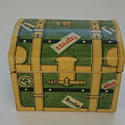 Antique candy container German miniature Humpback trunk