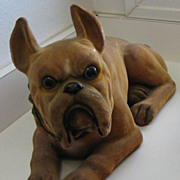 Antique Boxer Nodder figural large dog