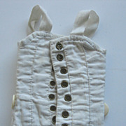 Antique French doll corset