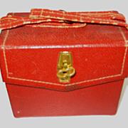 Vintage medium doll size red purse