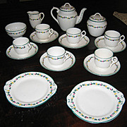 Rare Minton Delicate Flower Band English antique toy tea set