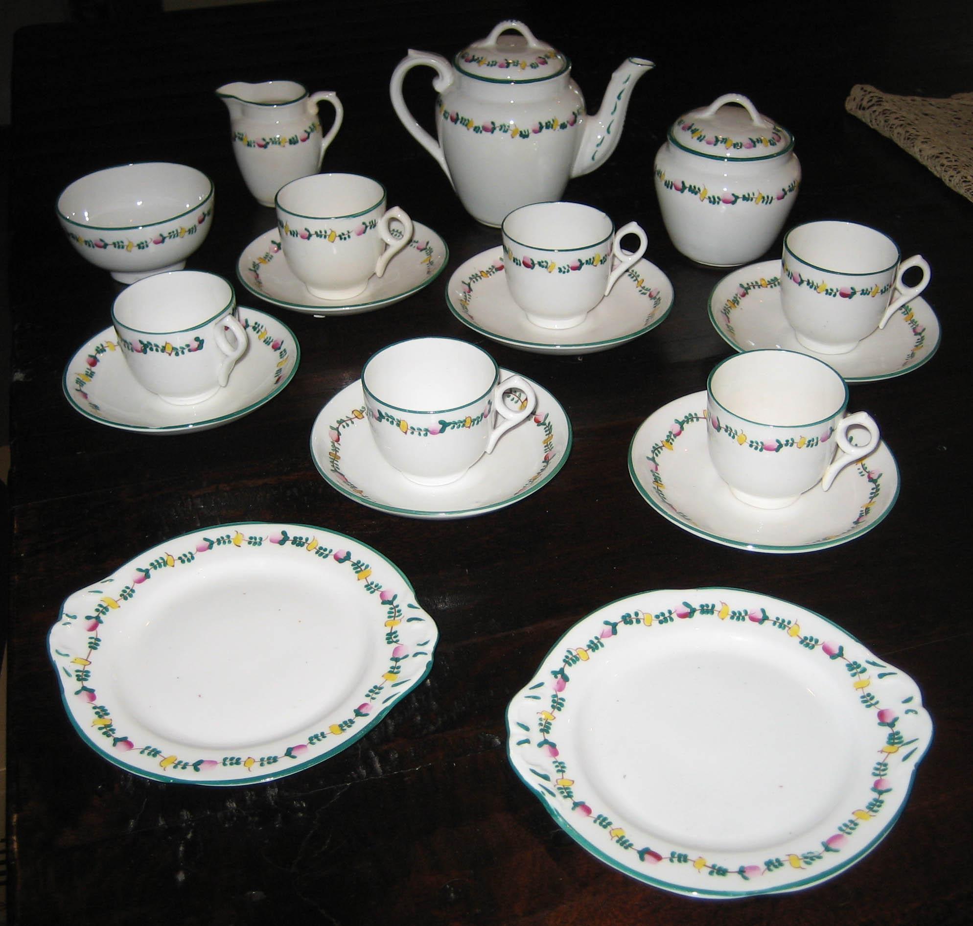 Toy Tea Set : Rare minton delicate flower band english antique toy tea