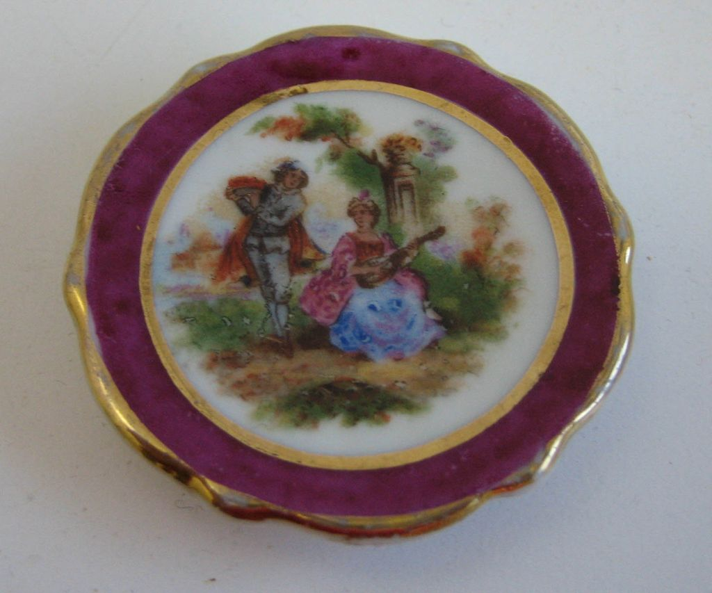 antique french miniature doll house porcelain limoges plate from sondrakruegerantiques on ruby lane. Black Bedroom Furniture Sets. Home Design Ideas