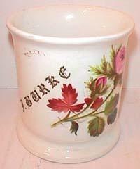 Antique shaving mug Angel handle unusual