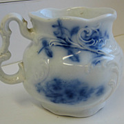 Antique Flow Blue shaving mug J&G Meakin