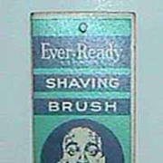 Antique Ever-Ready shaving brush advertising calendar c1933