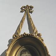 Antique gilt metal decorative ribbon picture frame deep insert
