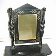 Antique toy miniature furniture Kestner German Boule black stenciled Dresser