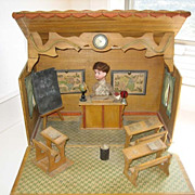 Antique French school musical mechanical automaton bisque dolls