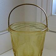 Vintage Fostoria TROJAN TOPAZ Crystal Ice Bucket
