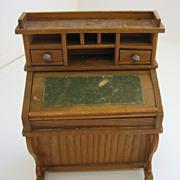 Antique German Schneegas doll house miniature wood Desk - Red Tag Sale Item