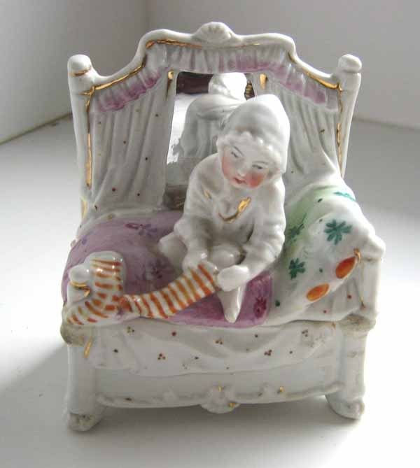 Antique Conta Boehme Porcelain Fairing Child Pulling On