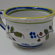 Antique French Brittany Quimper Faience miniature Chamber pot