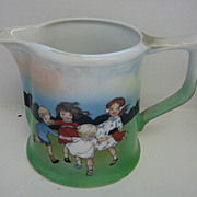 Royal Bayreuth Ring Around the Rosie antique creamer or milk pitcher
