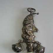Sterling Punch baby antique mother of pearl handle teething rattle