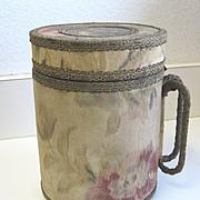 Antique unusual metal & glass Acme Water Cooler Pitcher c1895