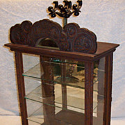 Antique wood counter display case